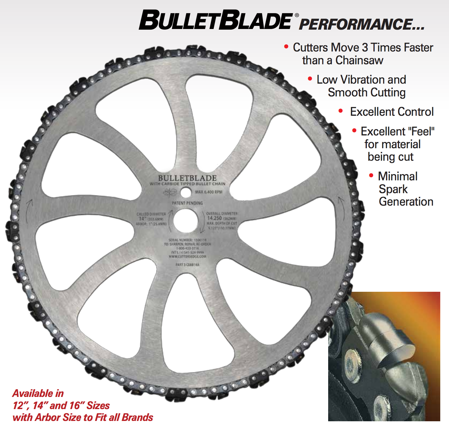 Cutters Edge BULLETBLADE® for chainsaws | Rescue Saws